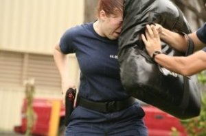 Yes this is actually me. During training after being pepper sprayed.